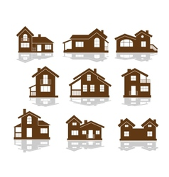 Set of apartment house icons vector image vector image