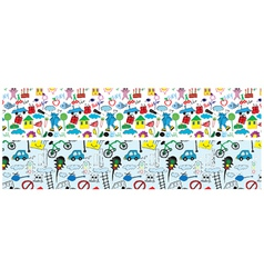 doodles web banner vector image vector image
