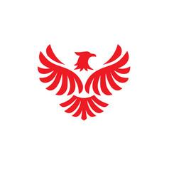 eagle bird logo design flying hawk vector image vector image