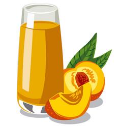 fresh peach juice vector image vector image