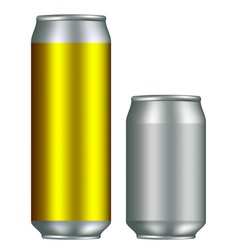 realistic canisters vector image