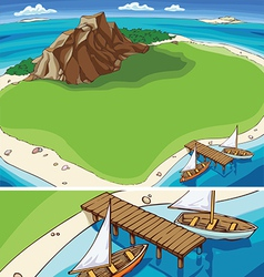 Small Tropical Island vector image vector image