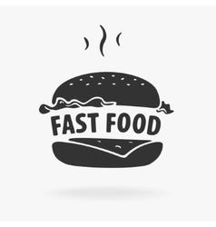 Symbol Fast Food Hamburger vector image vector image