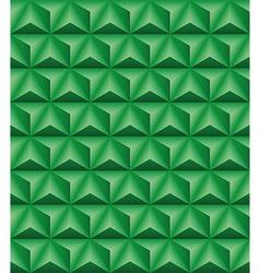 Tripartite pyramid green seamless texture vector image vector image