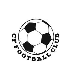 cf football club football background image vector image