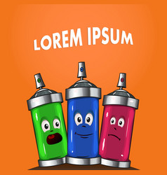 colored cans with paint vector image