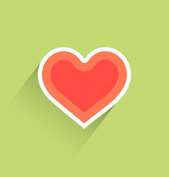 flat heart heart icon vector image