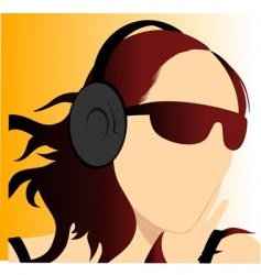 music enjoy vector image