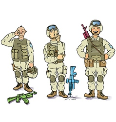 There Soldiers vector image