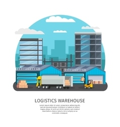 Warehouse Service Design vector image