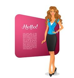 Beautiful woman character image vector image vector image