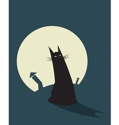 Cat Night vector image vector image