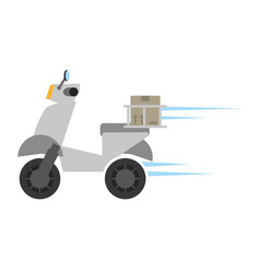 delivery motorcycle box fast vector image