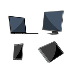 four devices set vector image
