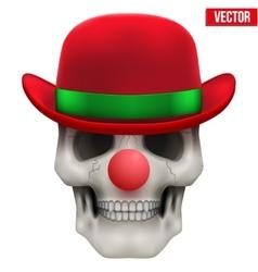 Human skull clown Front view vector image