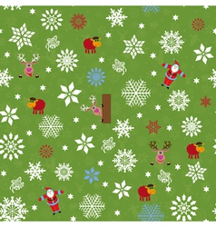Seamless pattern for Christmas motifs vector image vector image