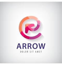 Abstract circle arrow logo icon vector