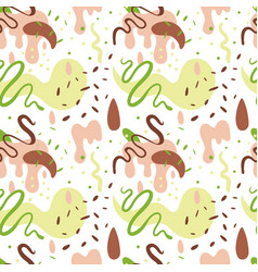 abstract pattern on white background vector image