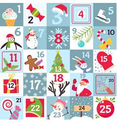 advent calendar printable christmas gift vector image