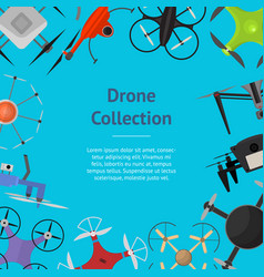 air drone color drone banner card vector image