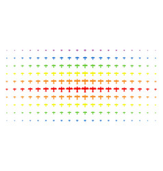 aircraft spectral halftone grid vector image