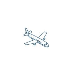 airplane boeing plane travel isometric icon 3d vector image
