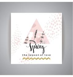 Artistic creative Hand Drawn spring Design vector