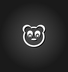 baby panda face icon flat vector image