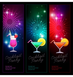 background party cocktails vector image