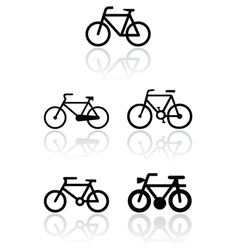 Bike symbol set vector