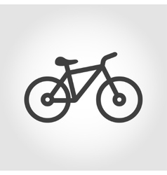 Black silhouette bicycle icon vector