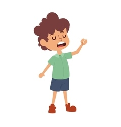 Boy stands vector image