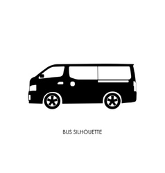 Bus black silhouette on a white background vector image