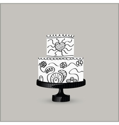 cake black vector image