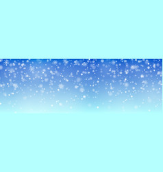 christmas falling snow isolated on blue bac vector image