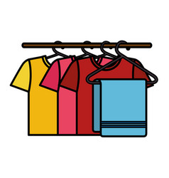 clean laundry hanging icon vector image