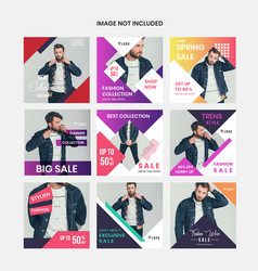 colorful social media marketing vector image