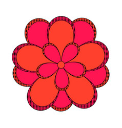 comic style flower icon vector image