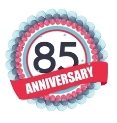 Cute Template 85 Years Anniversary with Balloons vector