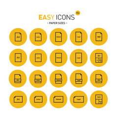 easy icons 15c papers vector image