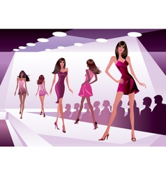 Fashion models represent new clothes vector image