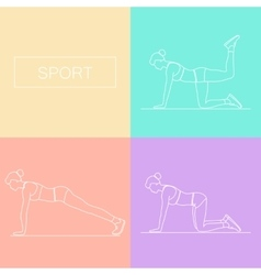 Female exercising silhouette vector image