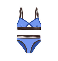female sports swimsuit blue strapped women vector image