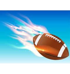 Flaming football in sky vector