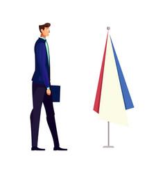 Flat diplomat icon vector