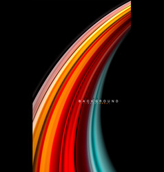 fluid mixing colors wave abstract vector image