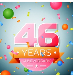 Forty six years anniversary celebration background vector image