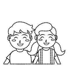 Girl and boy cartoon design vector