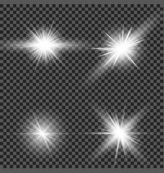 glow light effect star burst with sparkles sun vector image