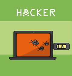 hacker and cyber security vector image